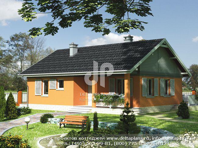 Проект дома из силикатных блоков № A-081-1P [E-596]