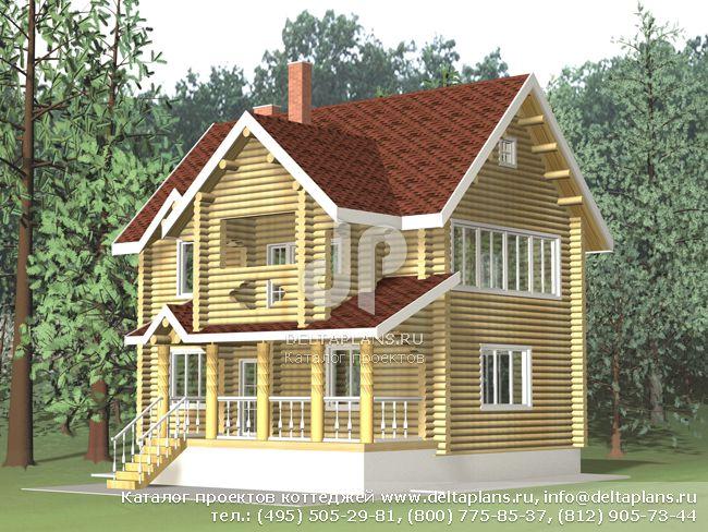 Деревянный дом. Проект № A-120-1D