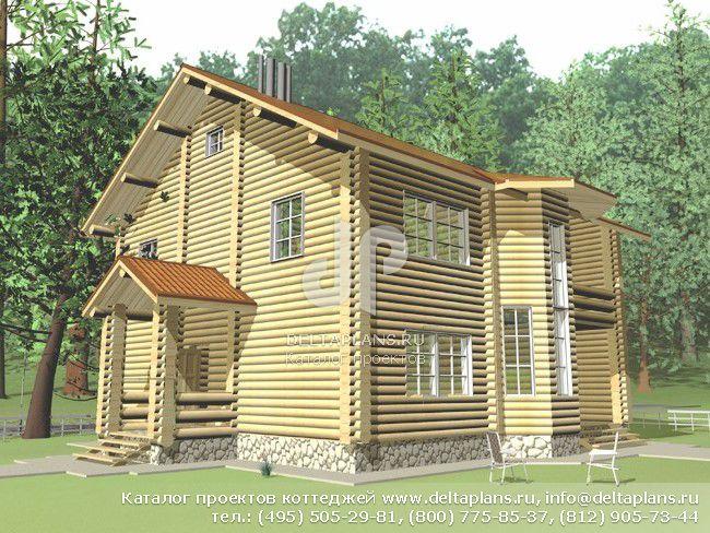 Деревянный дом. Проект № A-123-1D