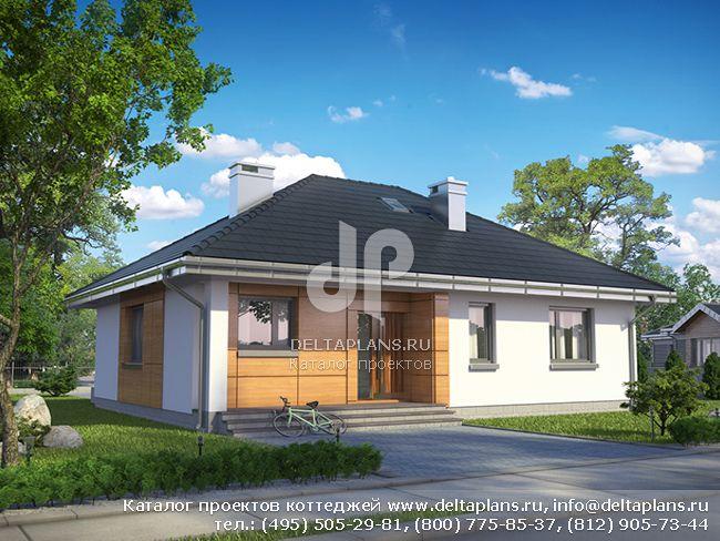 Проект одноэтажного дома 10 на 13 № A-154-1P [E-1140]