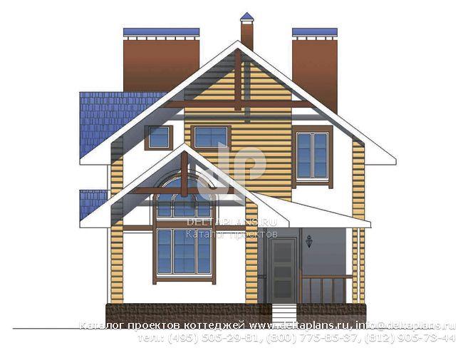 Каркасный дом. Проект № A-155-1M