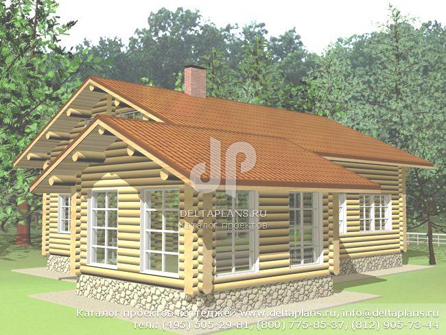 Деревянный дом. Проект № A-187-1D