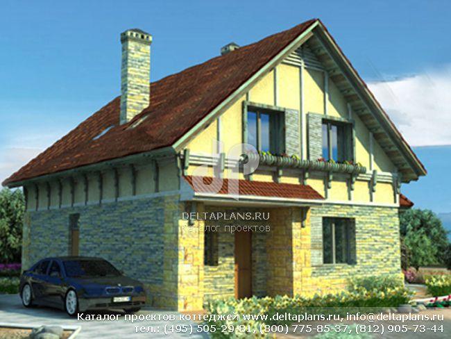 Пенобетонный дом. Проект № A-190-1P