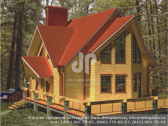 Деревянный дом. Проект № A-203-1D