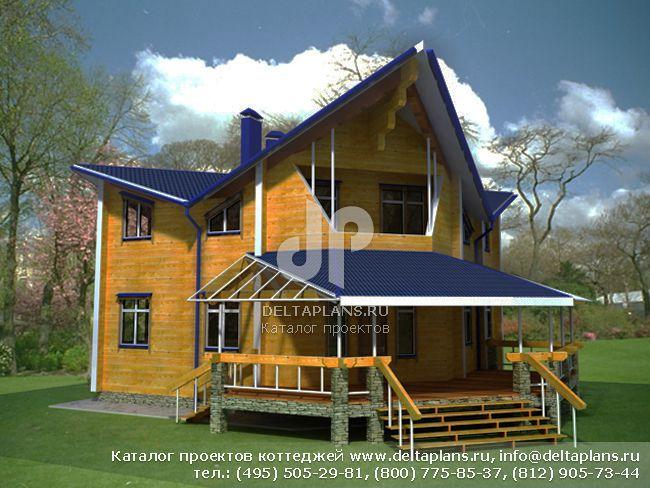 Деревянный дом. Проект № A-204-1D