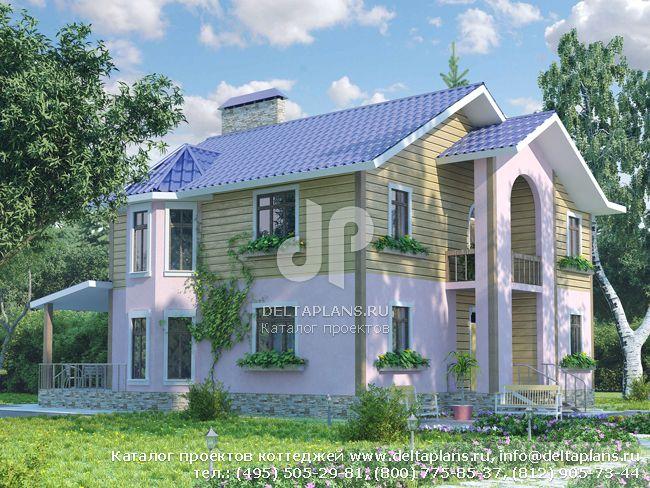 Пенобетонный дом. Проект № A-208-1P