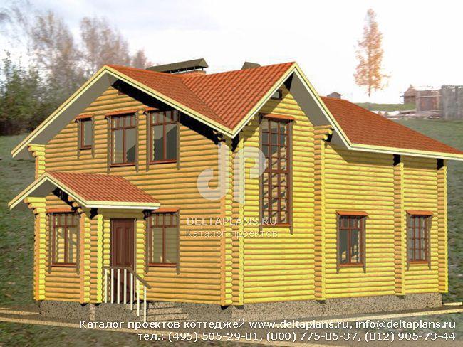 Деревянный дом. Проект № A-212-1D