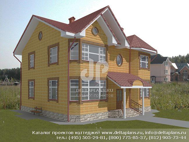 Деревянный дом. Проект № A-229-1D