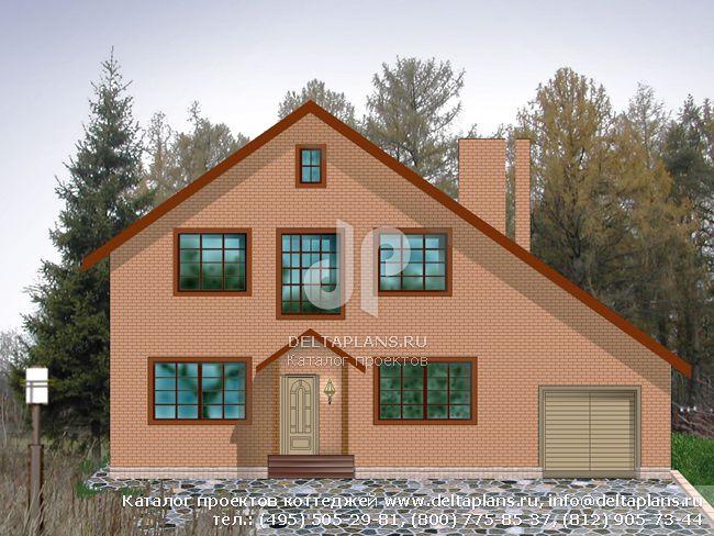 Кирпичный дом. Проект № A-235-1K