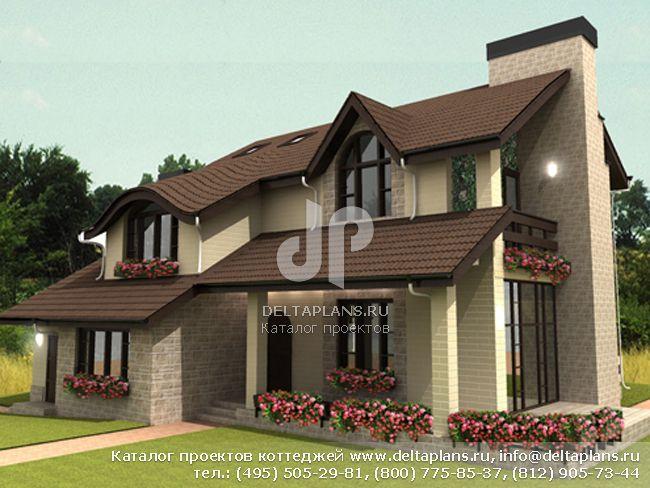 Пенобетонный дом. Проект № A-245-1P