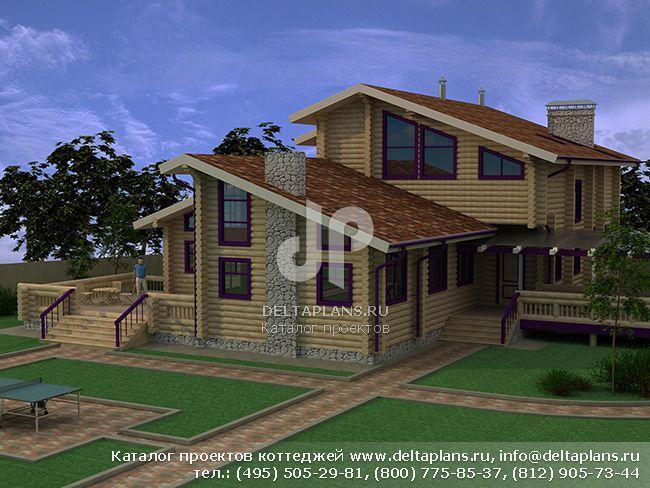 Деревянный дом. Проект № A-281-1D