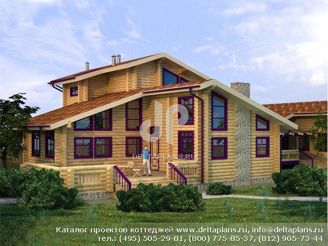 Деревянный дом. Проект № A-294-1D