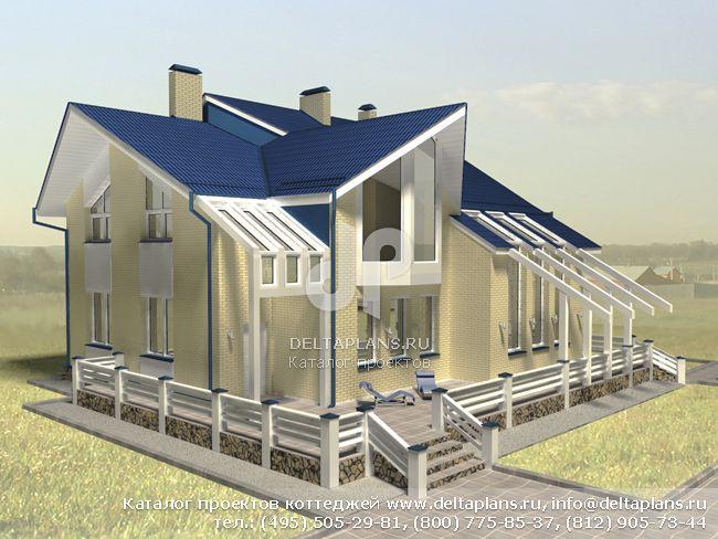 Пенобетонный дом. Проект № A-335-1P