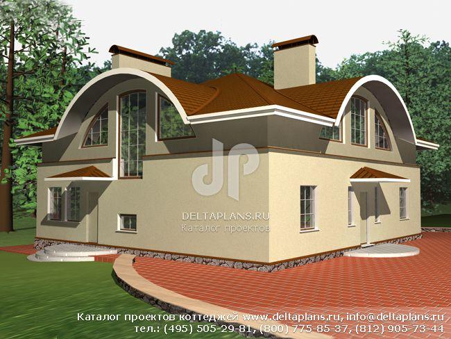 Кирпичный дом. Проект № A-375-1K