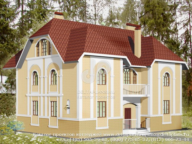 Кирпичный дом. Проект № A-478-1K