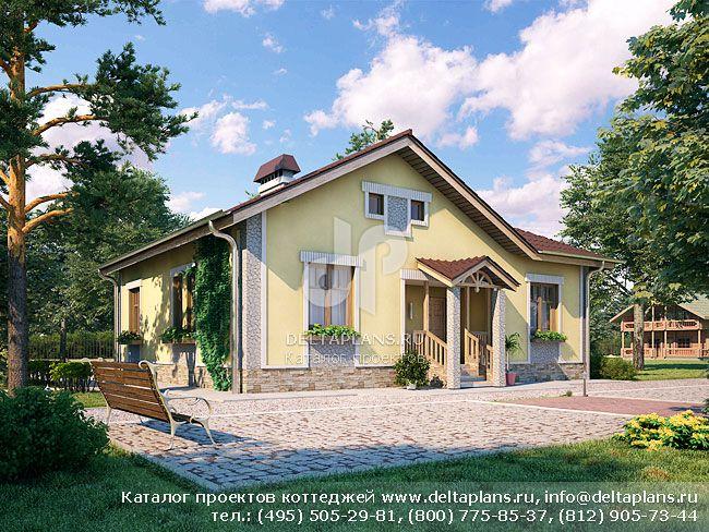 Проект одноэтажного дома № B-090-1P