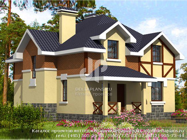 Кирпичный дом. Проект № B-163-1K