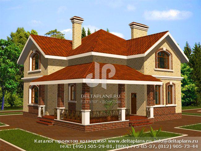 Кирпичный дом. Проект № B-220-1K