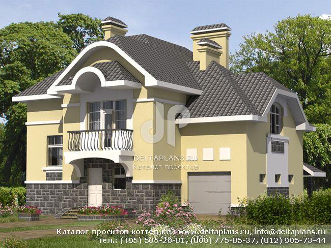 Кирпичный дом. Проект № B-270-1K
