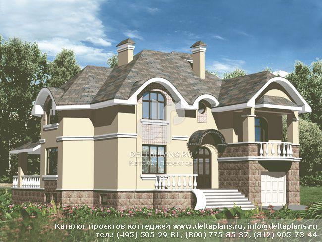 Кирпичный дом. Проект № B-302-2K