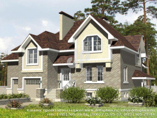 Кирпичный дом. Проект № B-305-1K