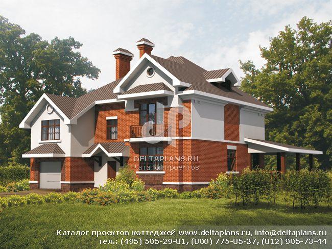 Кирпичный дом. Проект № B-308-1K
