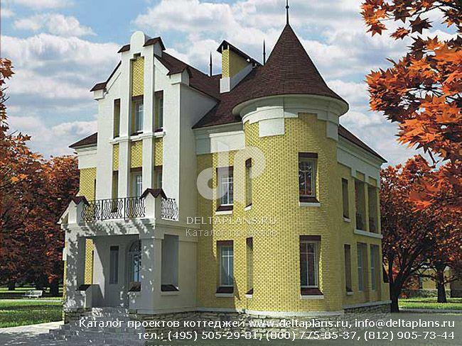 Кирпичный дом. Проект № B-460-1K