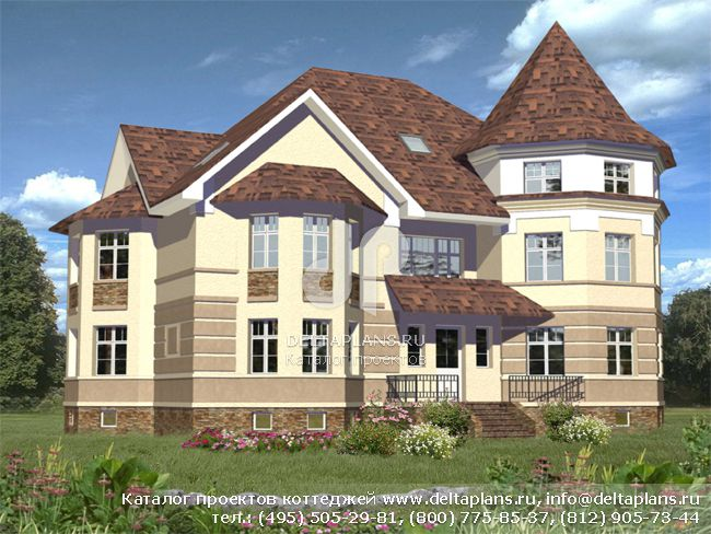 Кирпичный дом. Проект № B-684-1K