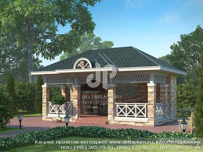 Каркасный дом. Проект № C-026-1S
