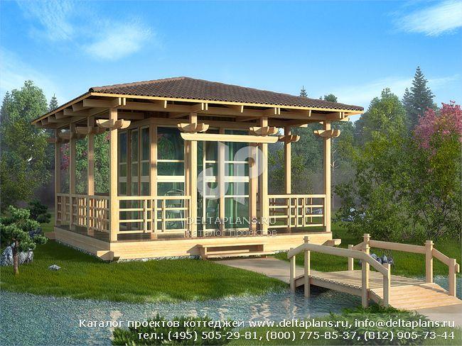 Каркасный дом. Проект № C-034-1S