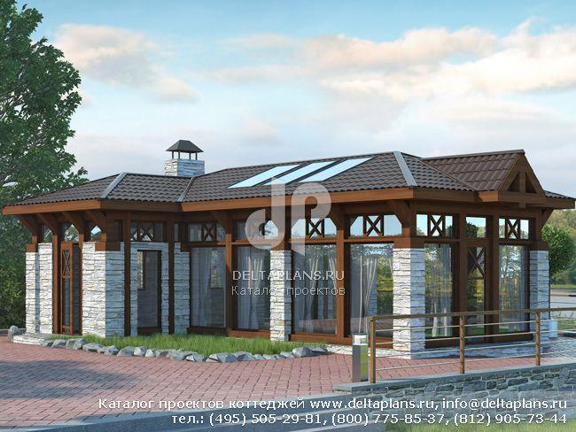 Каркасный дом. Проект № C-049-1S