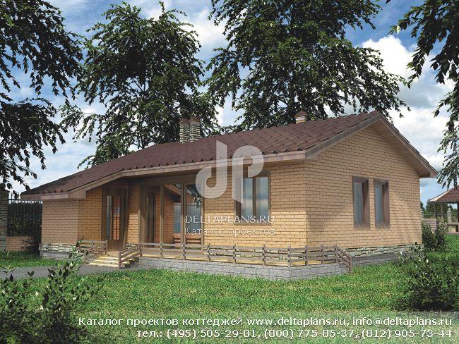 Одноэтажный дом из газобетона № C-054-1P