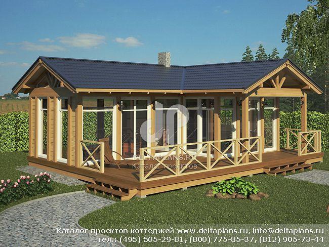 Каркасный дом. Проект № C-057-1S
