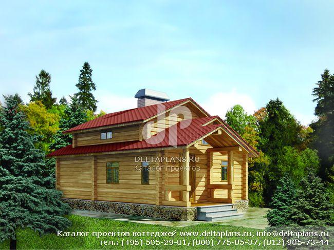 Деревянный дом. Проект № C-060-1D