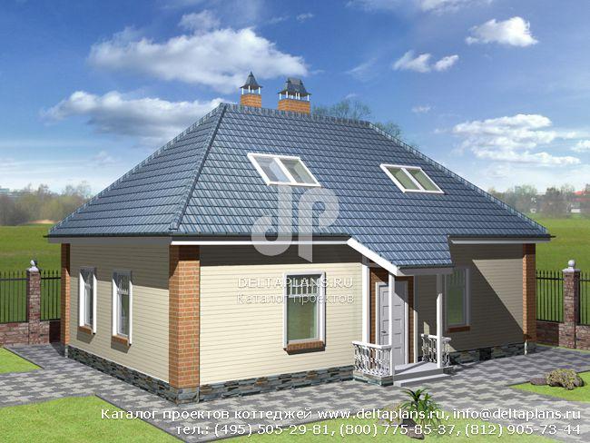 Пенобетонный дом. Проект № C-142-1P