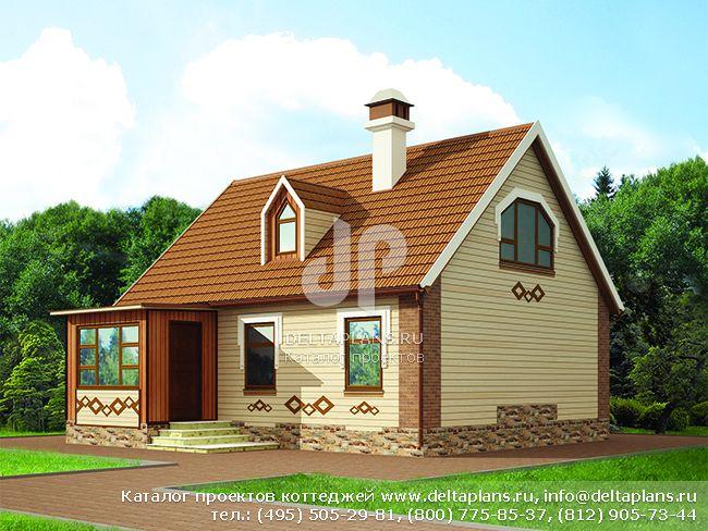 Деревянный дом. Проект № C-147-1D