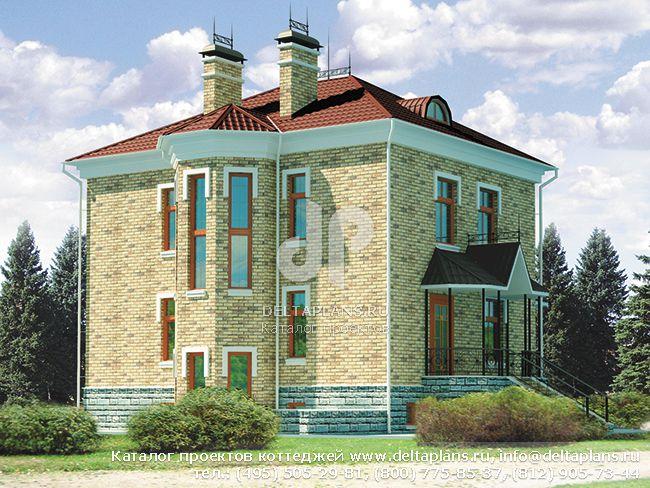 Пенобетонный дом. Проект № C-155-1P