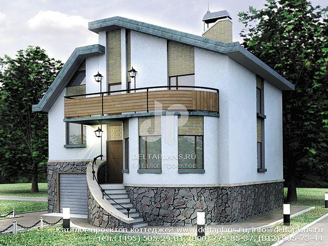 Кирпичный дом. Проект № C-178-1K