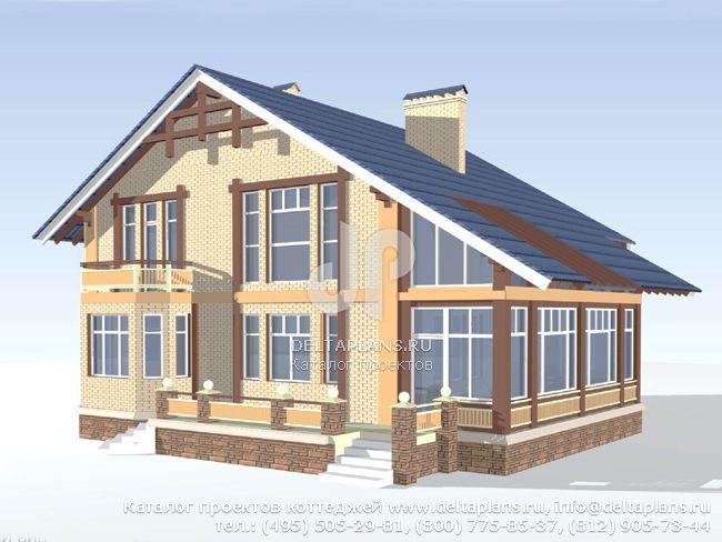 Деревянный дом. Проект № C-328-1D