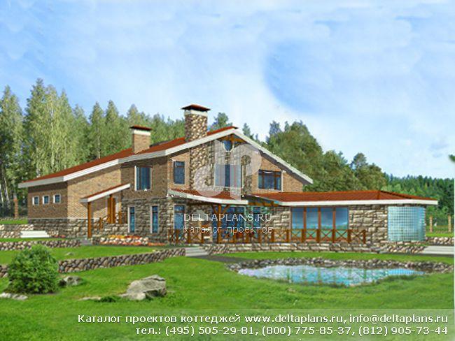 Кирпичный дом. Проект № C-401-1K