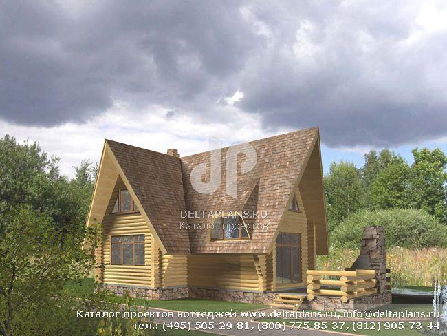 Деревянный дом. Проект № D-070-1D