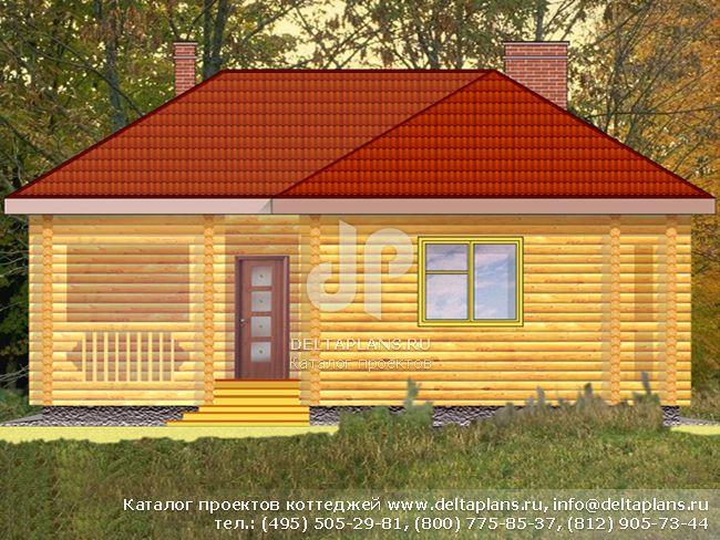Деревянный дом. Проект № D-074-1D