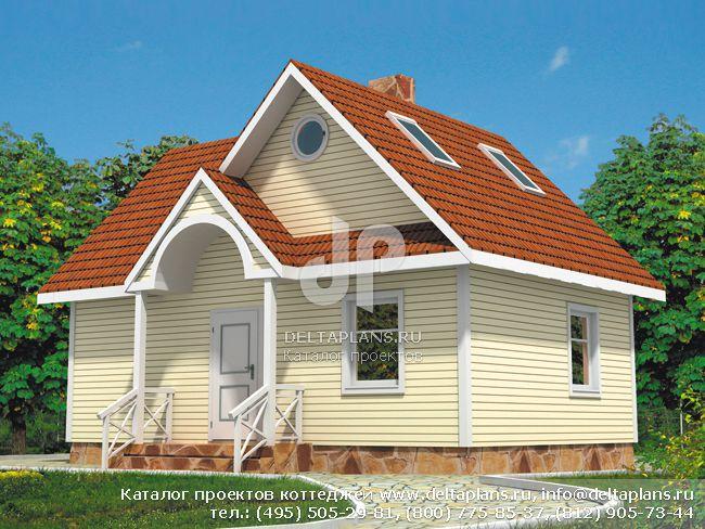 Каркасный дом. Проект № D-088-1S