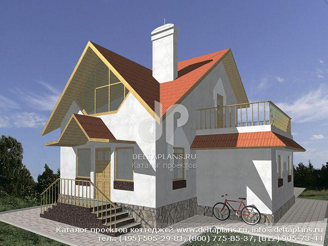 Деревянный дом. Проект № D-100-1D