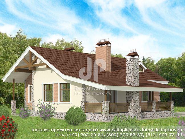 Кирпичный дом. Проект № D-110-1K