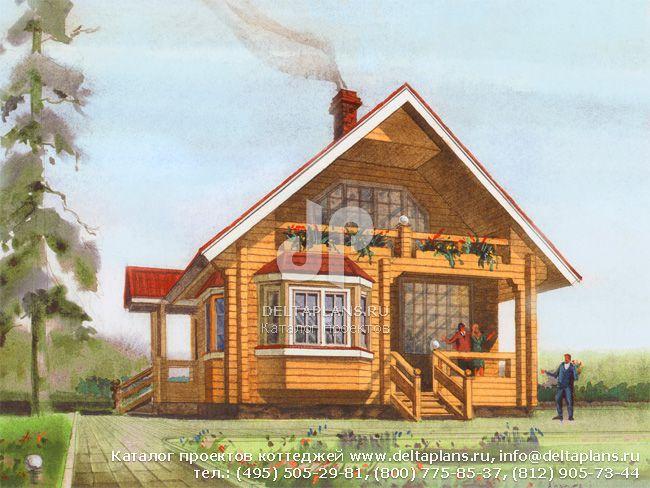 Деревянный дом. Проект № D-116-1D