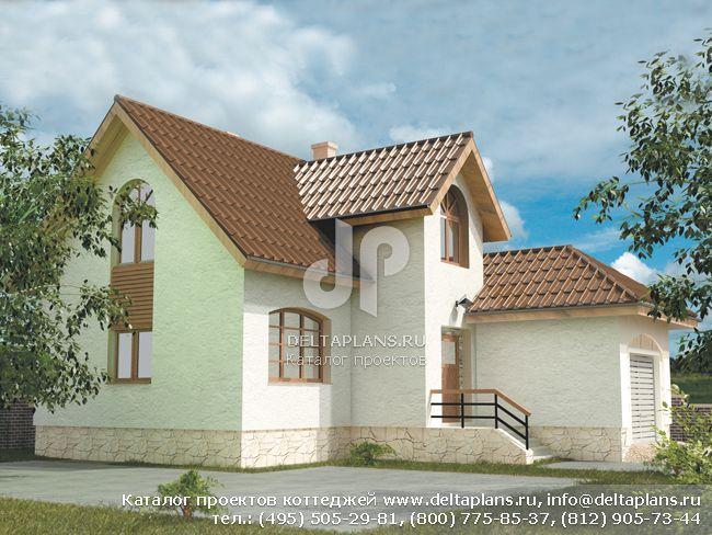 Кирпичный дом. Проект № D-125-1K