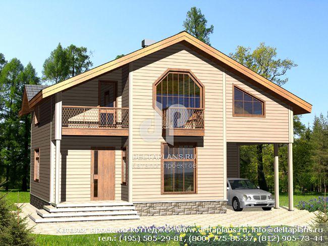 Деревянный дом. Проект № D-127-1D