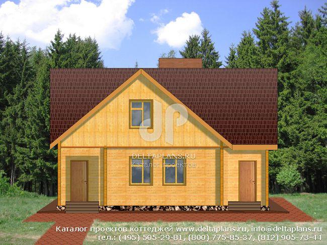 Деревянный дом. Проект № D-149-1D