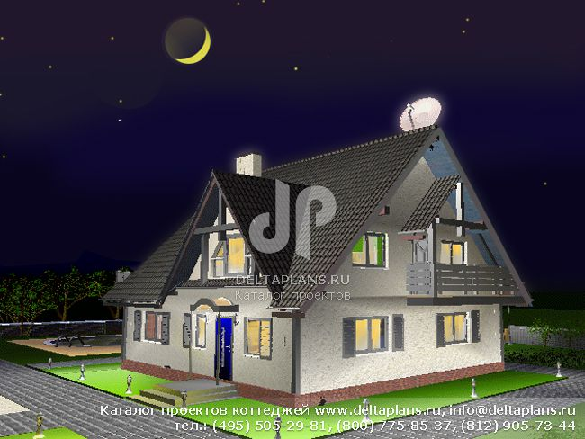 Пенобетонный дом. Проект № D-149-1P